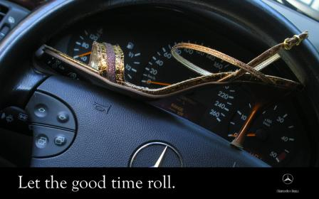 let the good time roll iv.thumbnail Mercedes ad: Let the good time roll!