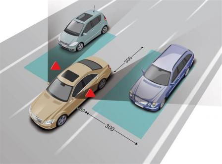 Blind Spot Assist: Greater safety when changing lanes
