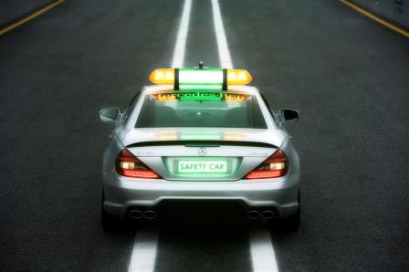 SL 63 AMG and C 63 AMG Estate at the start for all 18 Formula 1 races