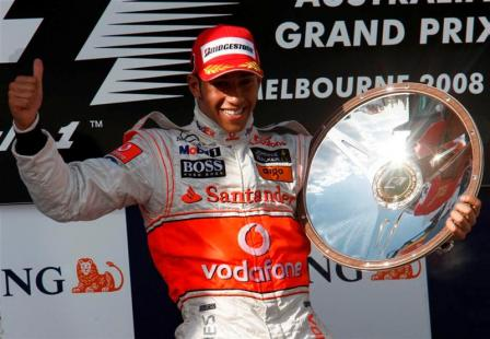 lewis hamilton celebrates medium.thumbnail Formula 1 Grand Prix in Australia