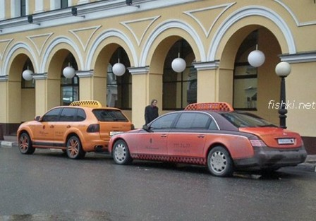 1 448x313 Porsche Cayenne and Maybach Luxury Taxi Cabs in Moscow