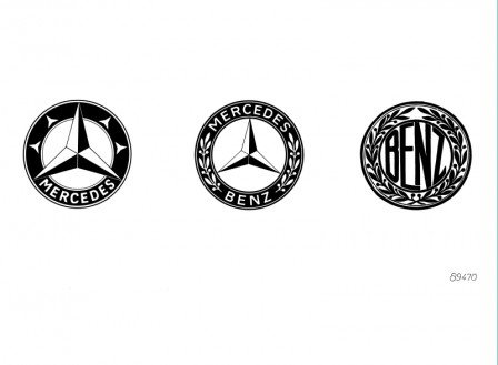 Mercedes old and new logo