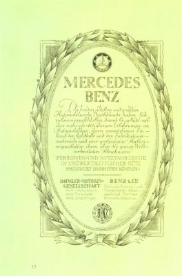 Mercedes brochure advertising