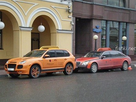 5 448x336 Porsche Cayenne and Maybach Luxury Taxi Cabs in Moscow