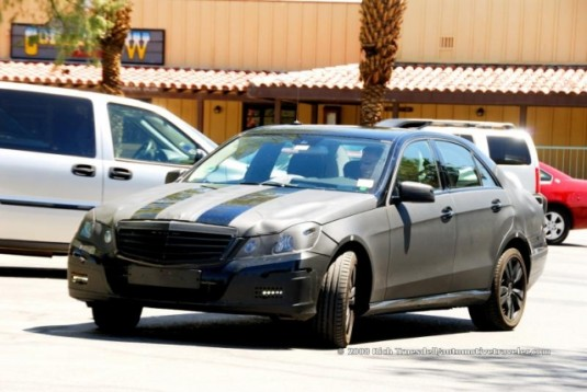 2010 mercedes benz e class spy shots1 535x358 2010 Mercedes Benz E Class Spied in California