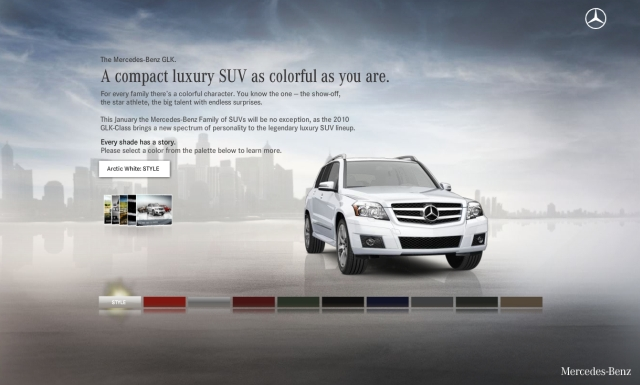 Mercedes benz unveils new glk micro site for Mercedes benz official site