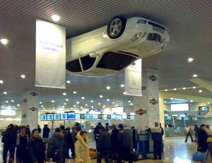 Mercedes-benz in Russian Airport