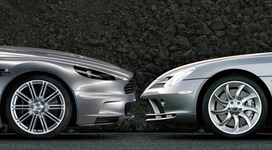 Aston Martin and Mercedes-Benz working together