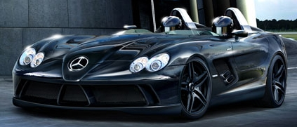mclaren mercedes slr speedster concept illustration McLaren SLR Speedster Computer Illustration