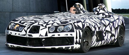 mclaren mercedes slr speedster concept illustration spy shot McLaren SLR Speedster Computer Illustration
