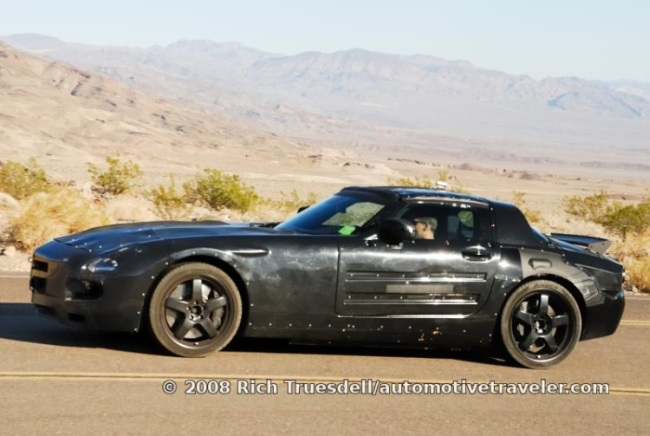 successor and future Mercedes-Benz Gullwing in the California Desert.