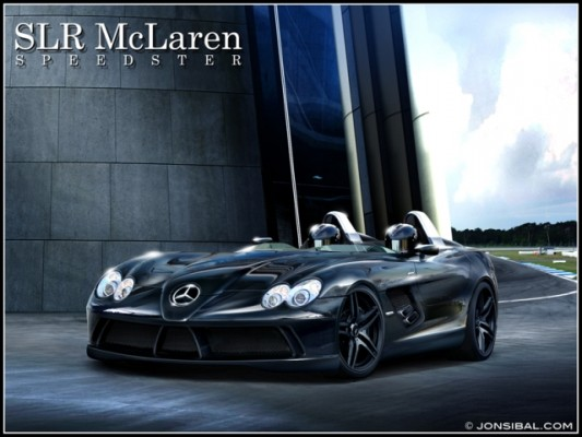 slrspeedsterlr1 533x400 McLaren SLR Speedster Computer Illustration
