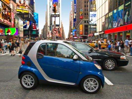 smart car in new york city NYC