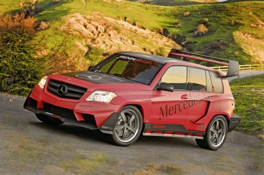 mercedes benz glk renntech pikes peak sema01 540x359 The Mercedes Benz GLK at SEMA 2008: RENNtech GLK Pikes Peak