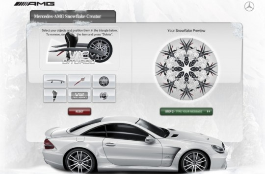 mercedes benz amg snowflake maker 540x356 Have some fun with the AMG Snowflake Creator