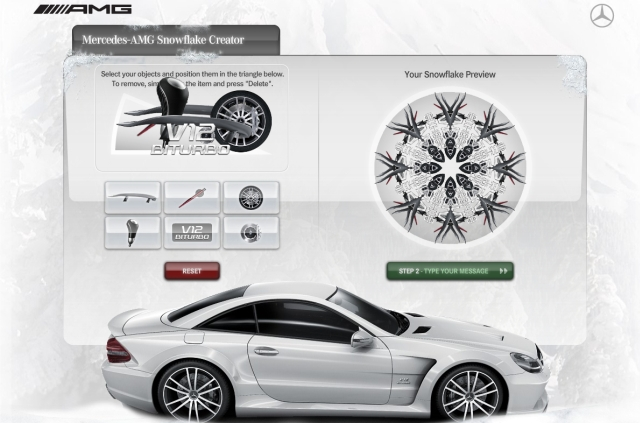 Have some fun with the amg snowflake creator benzinsider for Mercedes benz maker