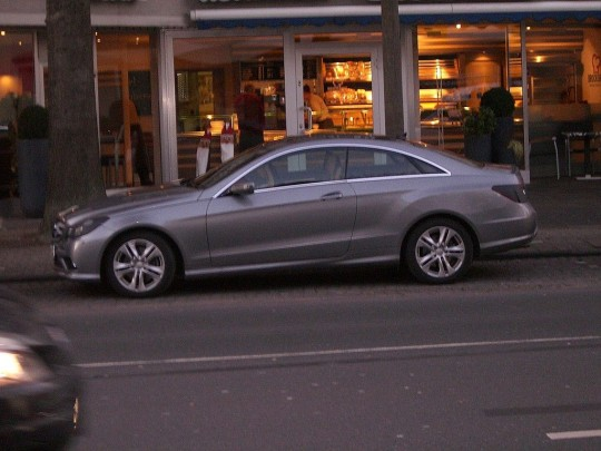 mercedes benz e class coupe spy shots new 540x405 E Class Coupe spotted again in Germany   with almost no camo