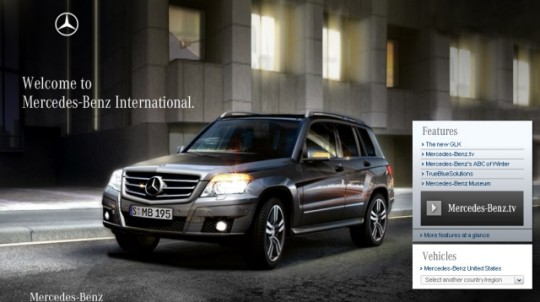 mercedes benz launches redesigned website 540x302 Mercedes Benz launches redesigned international website