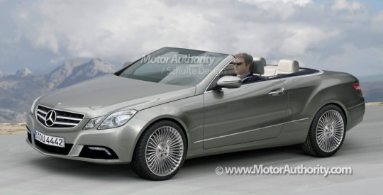 2011 mercedes benz e class cabrio rendering 540x275 Computer Illustration of upcoming E Class Cabrio
