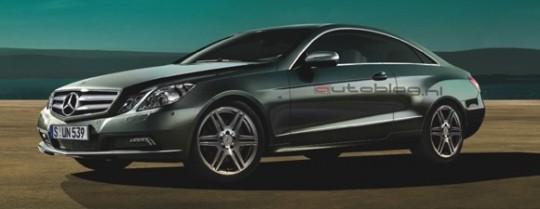 mercedes benz e class coupe leaked spy shots 540x209 Official next gen E Class Coupe images leaked online