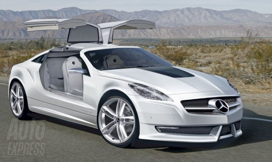 mercedes benz slk gullwing illustration slc 540x323 Mercedes Benz working on a SLK Gullwing?