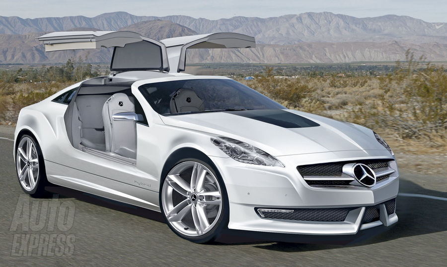 Mercedes Benz Working On A Slk Gullwing