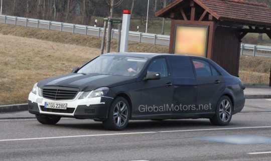 mercedes benz e class limo 540x321 Mercedes Benz E Class Limo gets spied by Ninjas