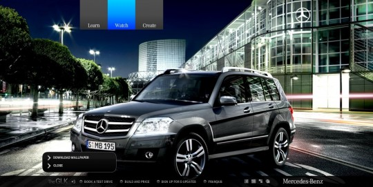 mercedes benz glk microsite wallpaper 540x271 Mercedes Benz Canada launches new GLK microsite